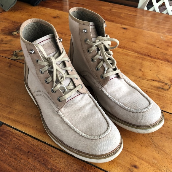 aeba0cd5f08 Wolverine 1883 Canvas and Leather Mac Toe Boots